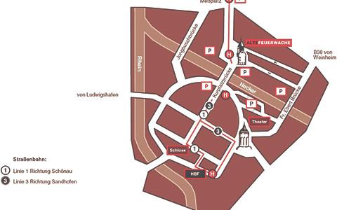 Anfahrt Alte Feuerwache Mannheim